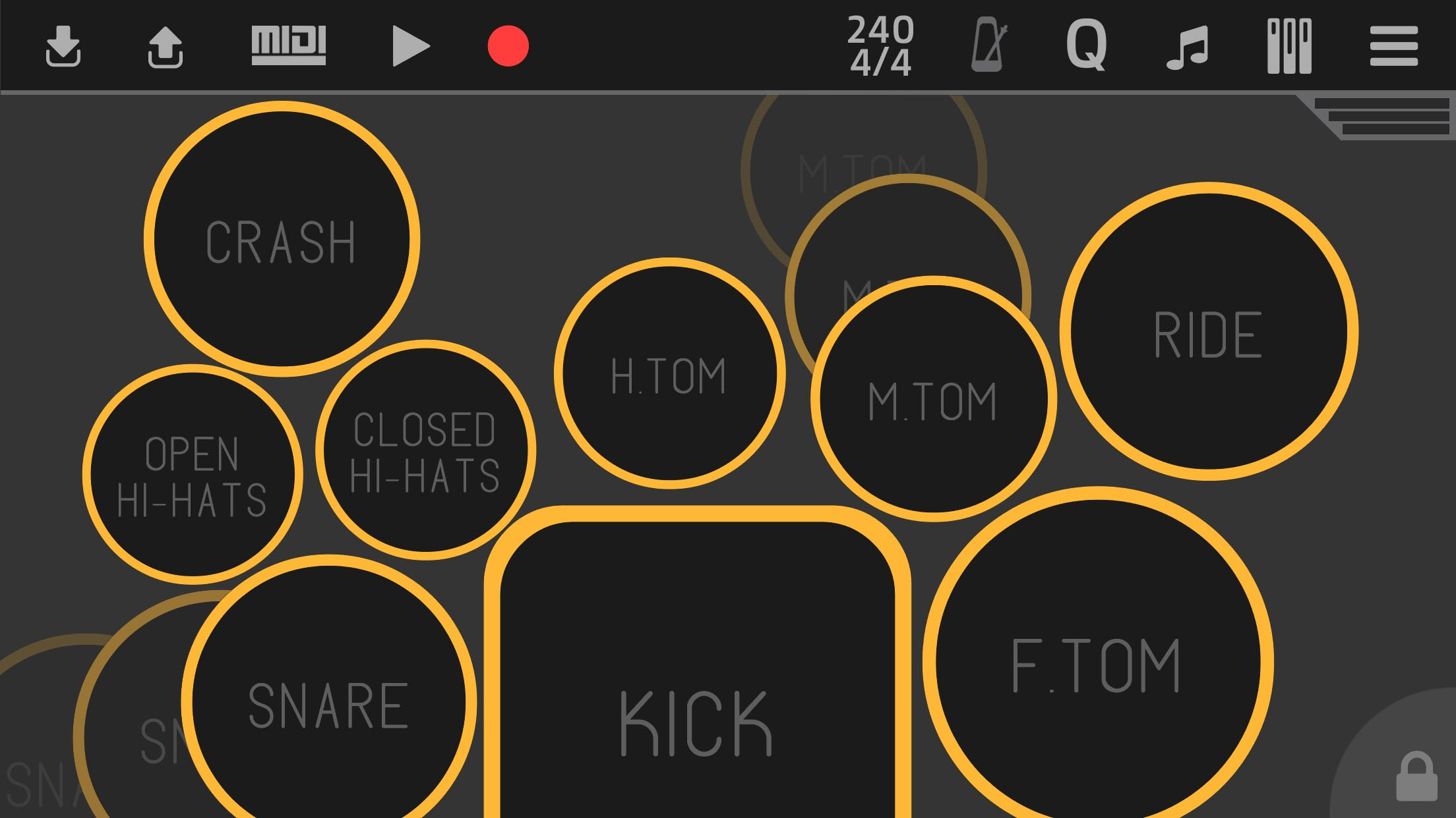 Flexy Drums Mobile App