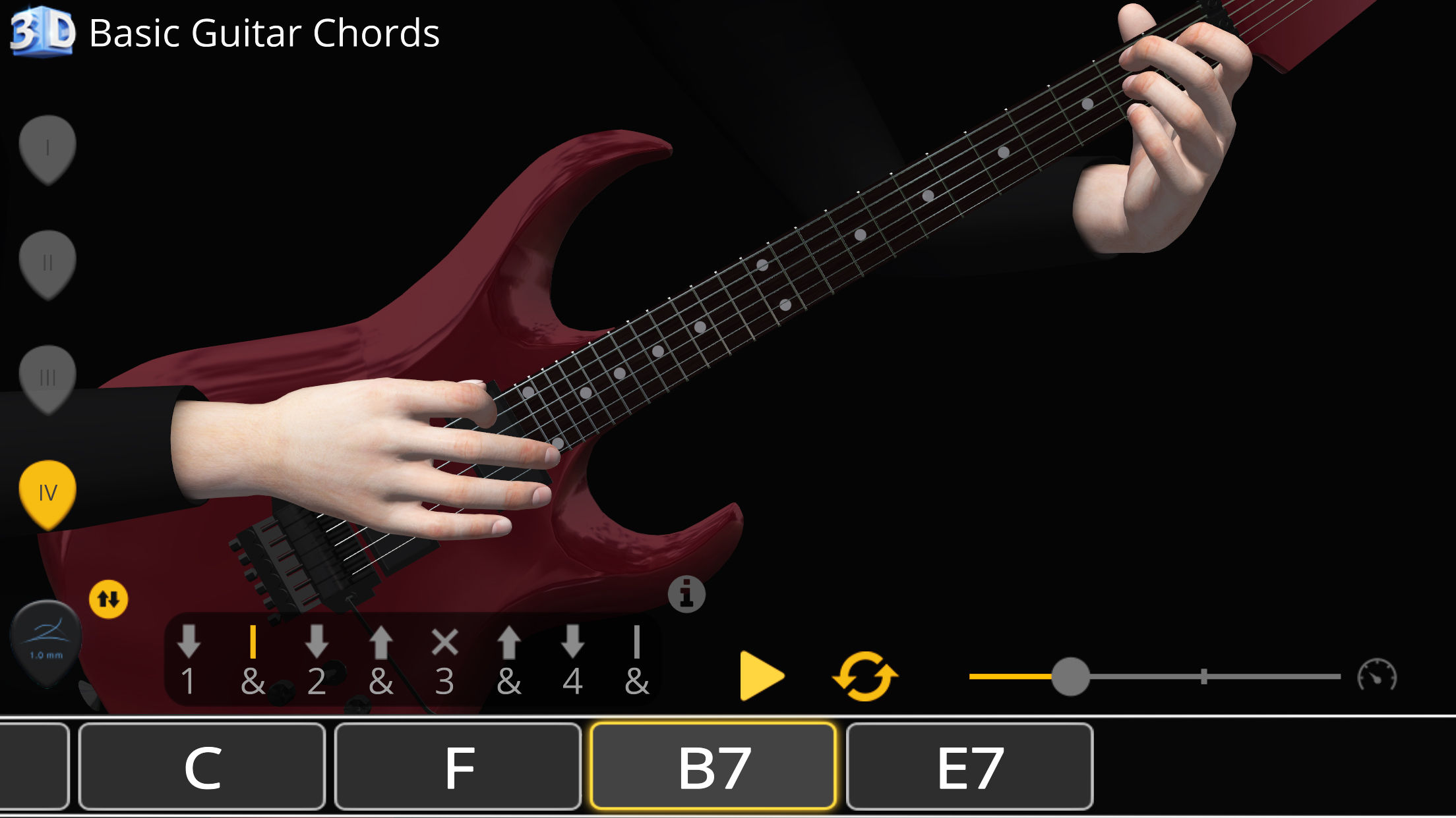 Basic Guitar Chords 3d App For Android And Ios Polygonium