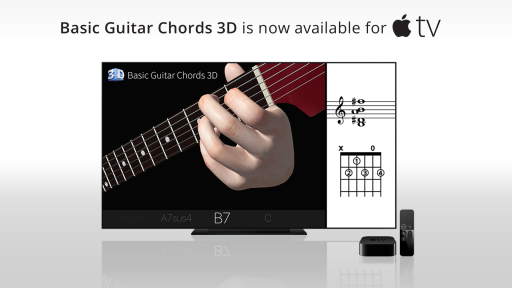 Basic Guitar Chords 3d Is Now Available For Appletv Polygonium