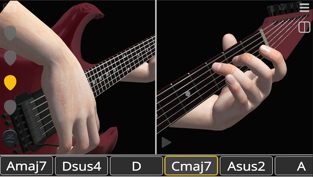 Basic Guitar Chords 3D Strums