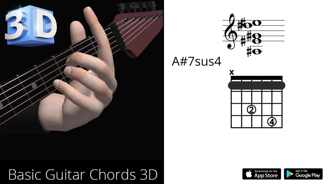 Guitar3D A#7sus4