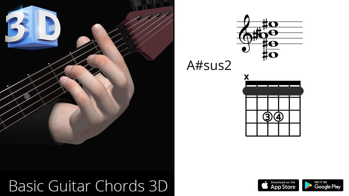 Guitar3D A#sus2