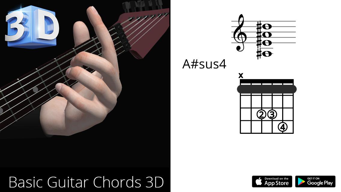 Guitar3D A#sus4