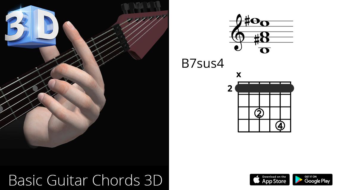 Guitar3D B7sus4