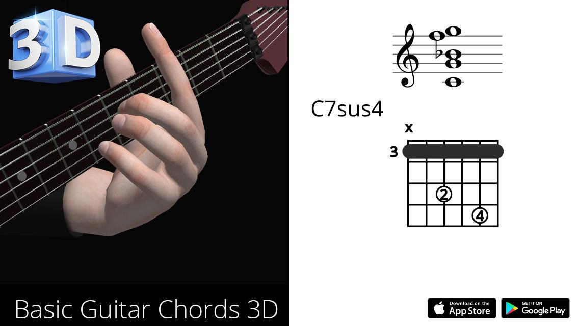 Guitar3D C7sus4