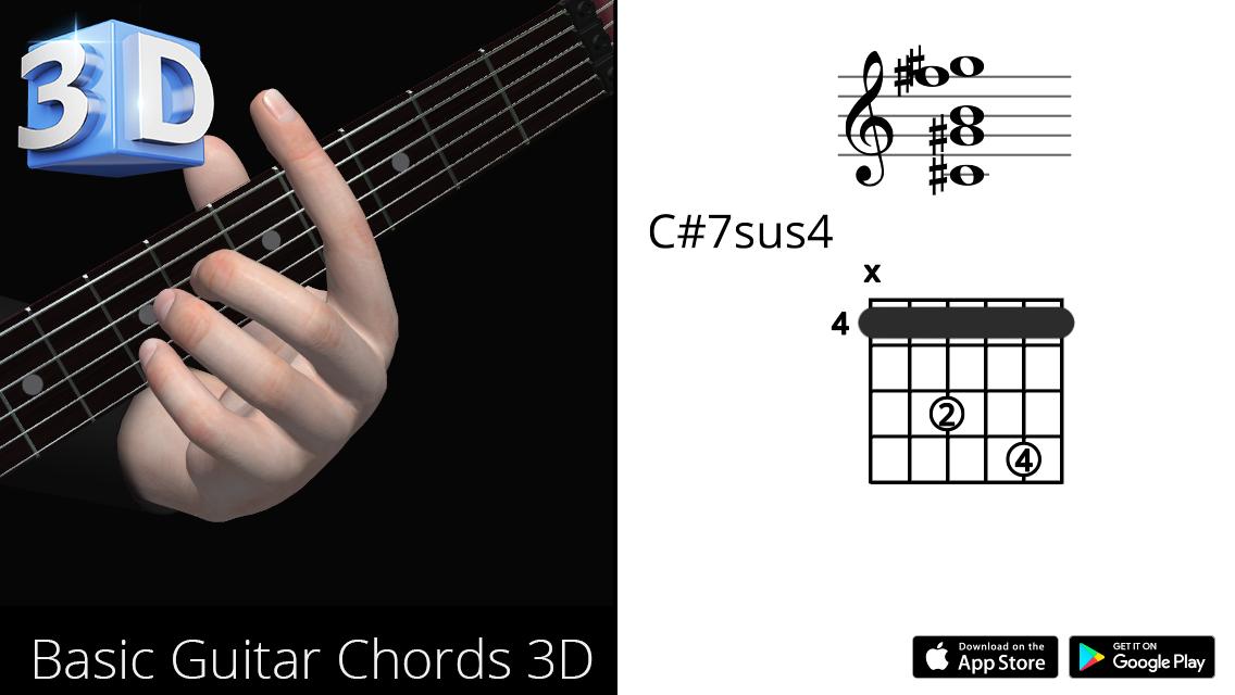 Guitar3D C#7sus4