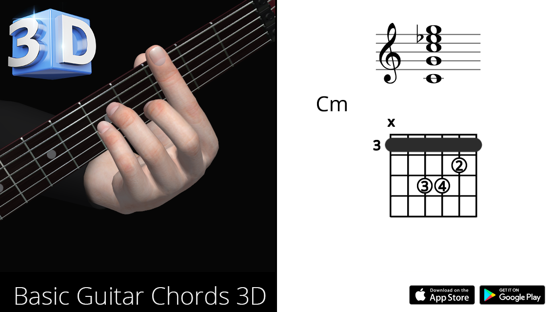 Guitar 3D Chords : Cm – Do Minor – Polygonium