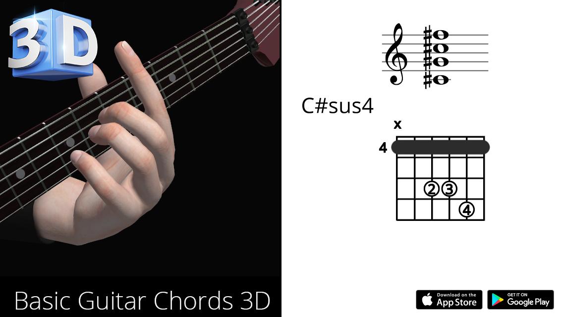 Guitar3D C#sus4