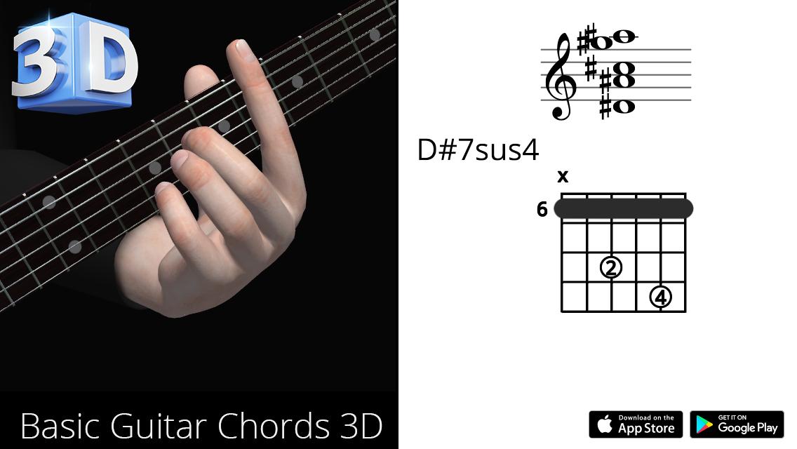 Guitar3D D#7sus4