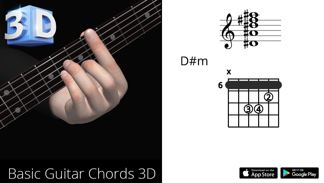 Guitar3D D#m