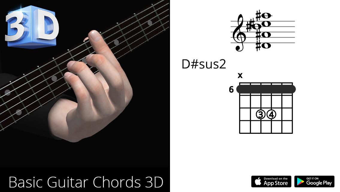 Guitar3D D#sus2