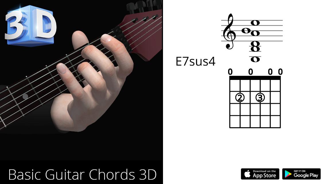 Guitar3D E7sus4