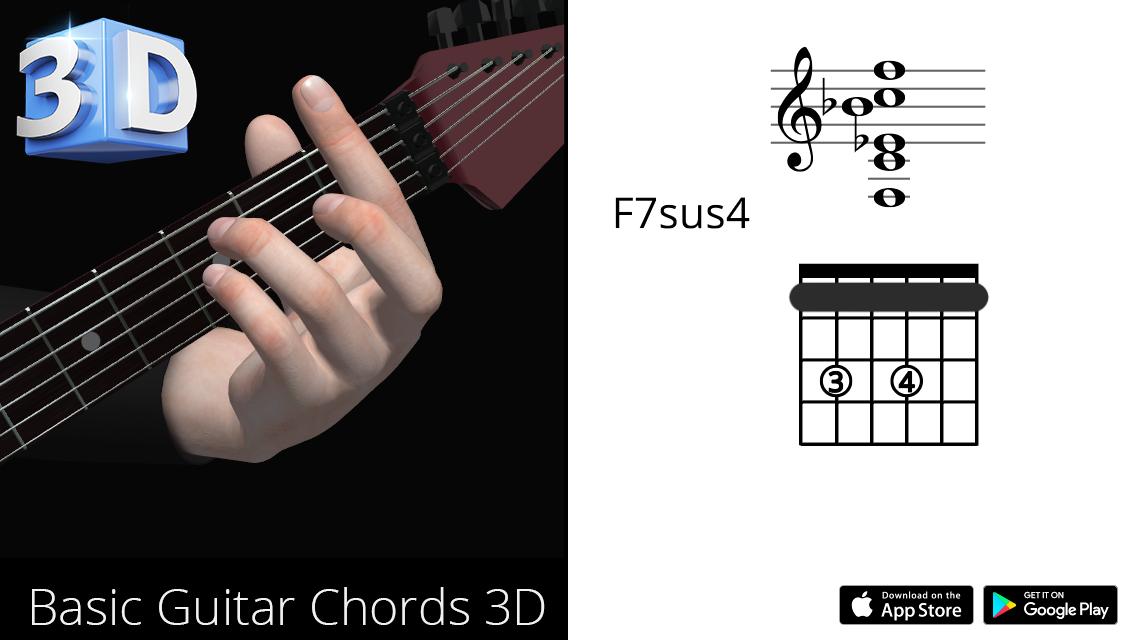 Guitar3D F7sus4