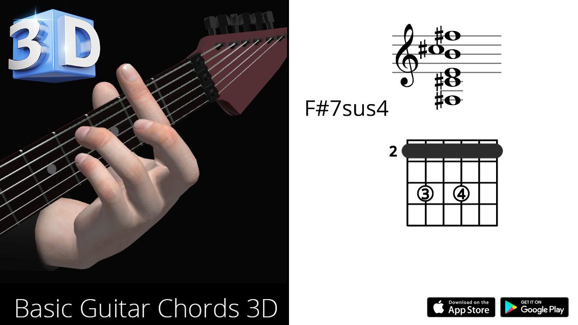 Guitar3D F#7sus4