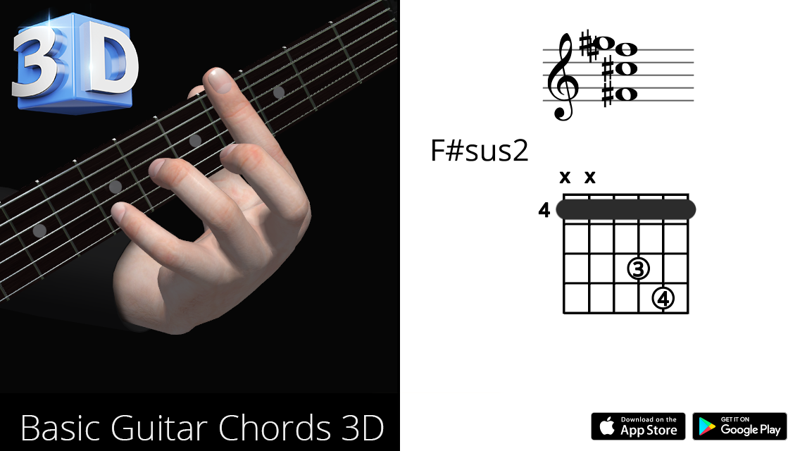 Guitar3D F#sus2
