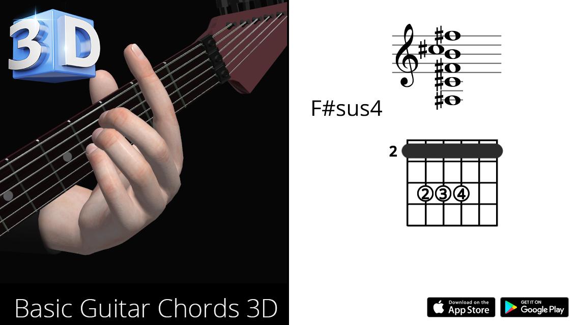Guitar3D F#sus4