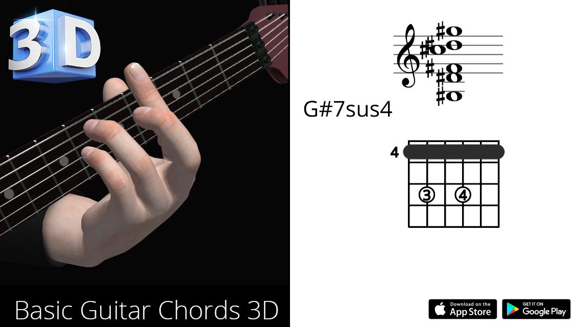 Guitar3D G#7sus4